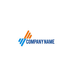 abstract business company logo vector image