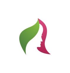 Beauty Women Icon Logo Template vector image
