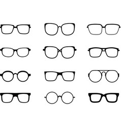 black glasses vector image vector image