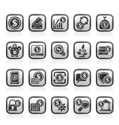 Business Money and Finance icons vector image