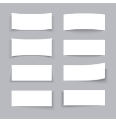 Empty white paper business banners with different vector