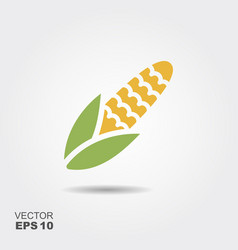 maize corn flat icon colorful logo vector image
