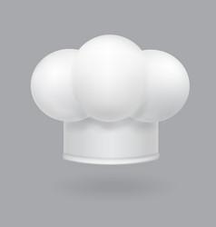 a white chef hat icon realistic vector image