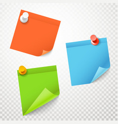 Blank color stickers set on transparent background vector image vector image