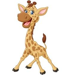 Cartoon smiling giraffe vector image vector image