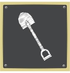 color flat shovel icon vector image