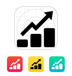 Graph up icon vector image vector image