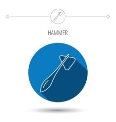 Reflex hammer icon Doctor medical equipment vector image