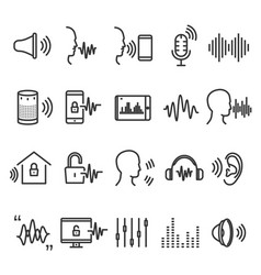 speech recognition device vector image vector image