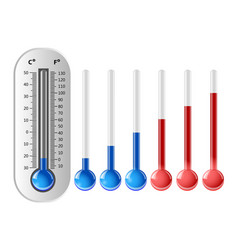 weather thermometer with different temperature vector image