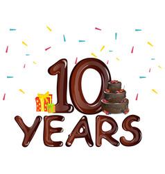 10 years anniversary celebration birthday vector image vector image