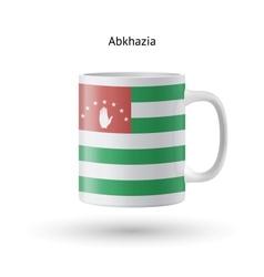 Abkhazia flag souvenir mug on white background vector image