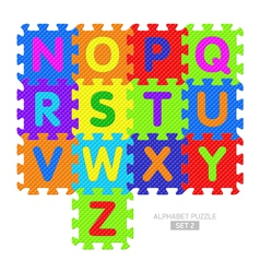Alphabet puzzle vector image vector image