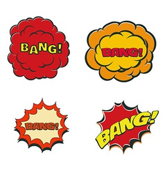 Bang blast flash comics blow isolated on white vector image