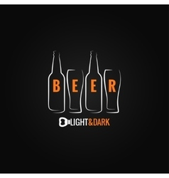 beer glass bottle ornate background vector image vector image