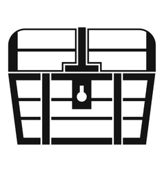 Chest icon simple style vector image vector image