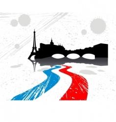city of Paris vector image vector image