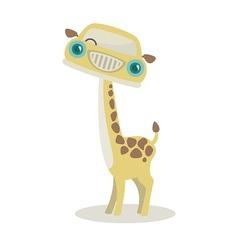 Giraffe-mobile vector image vector image