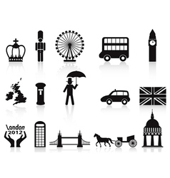 london icons set vector image vector image