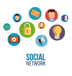 social network concept communication device vector image vector image