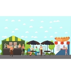 set of brewery and beer restaurant concept vector image vector image