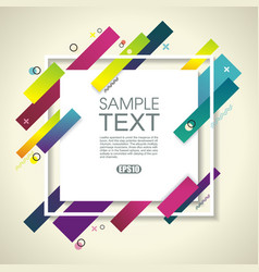 Abstract geometric background with white frame vector