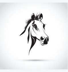 abstract horses head vector image