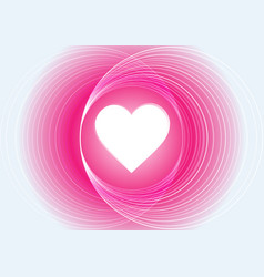 Abstract pink light circle with heart background vector