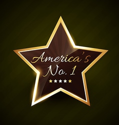 america number one no1 label vector image