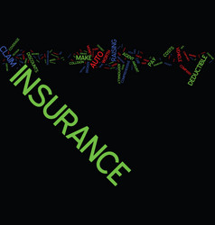 Auto insurance tips text background word cloud vector