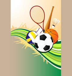 Ball sports background vector