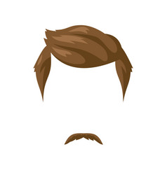 Beard mustache and hairstyle vector