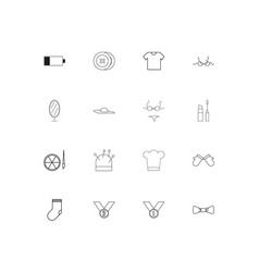 beauty dress and clothes simple linear icons set vector image
