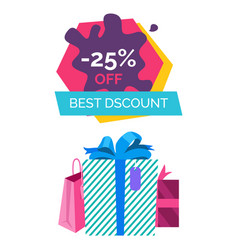 Best discount -25 off sale vector