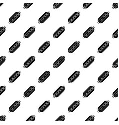 bun and sausage pattern vector image