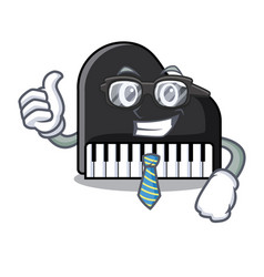 businessman piano character cartoon style vector image