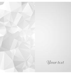 Card template with geometric background vector