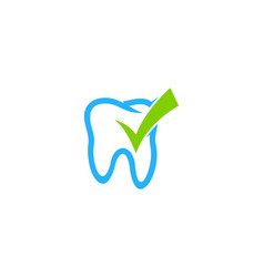 check dental logo icon design vector image