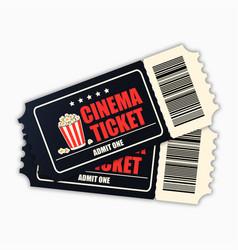 cinema ticket template black realistic movie vector image