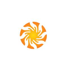 circle abstract splash logo vector image
