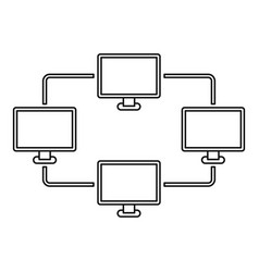 Computer transmission information icon vector