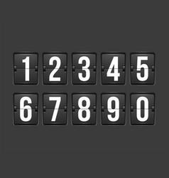 Countdown timer white color mechanical scoreboard vector