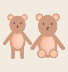 cute bears teddy stuffed toys vector image