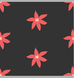 cute seamless pattern with poinsettias vector image