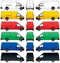 Delivery vans set vector