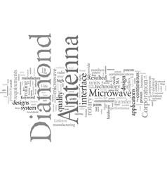 Diamond antenna vector