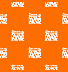 drum and drumsticks pattern seamless vector image