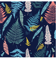 fashion fern seamless pattern for textile design vector image