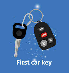 First car key vector