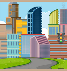 flat design of urban vector image